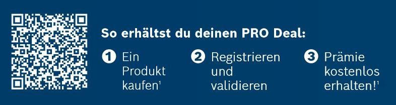 Bosch PRO DEALS Handwerkaktion - So funktionierts!