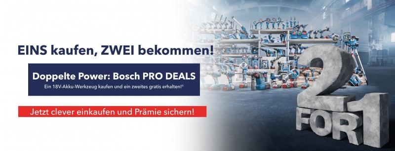Bosch PRO DEALS 2für1 Aktion
