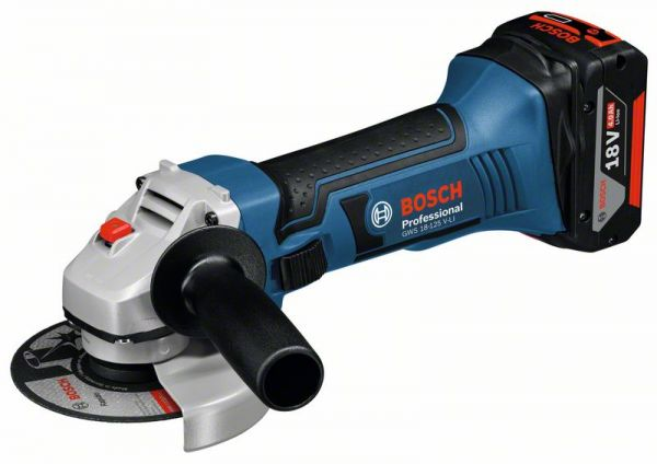 Bosch Akku-Winkelschleifer GWS 18-125 V-LI, Solo Version, L-BOXX