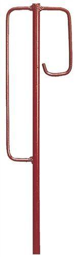 10 Stück Laterneneisen Berliner Modell Absperrleinenhalter Absperrhalter rot