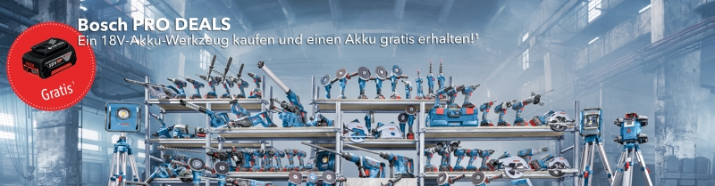 Bosch PRO DEALS GBA Aktion