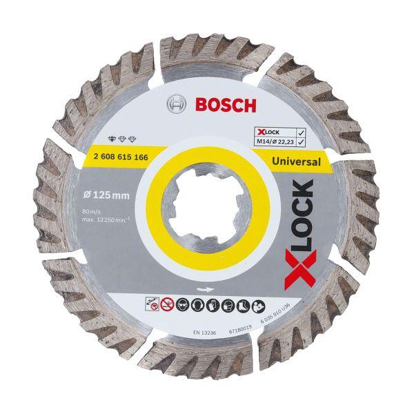 Bosch X-LOCK Diamanttrennscheiben Standard for Universal 125 x 22,23 x 2 x 10