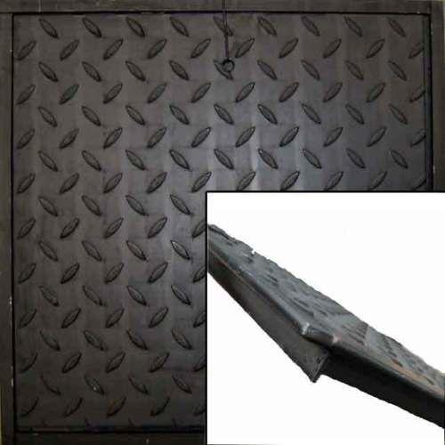 Stahl Schachtabdeckung, befahrbar 5 to. Bruchlast mit Rahmen
