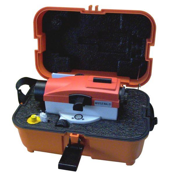 NESTLE NAL20 NAL24 NAL28 NAL32 automatisches Baunivellier im Koffer, mit oder ohne Stativ und Latte