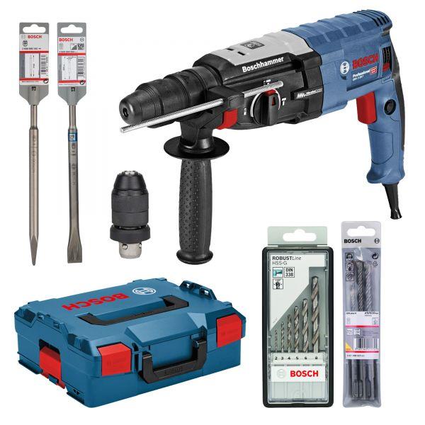 BOSCH Bohrhammer GBH 2-28 F Premium Set inkl. L-BOXX, Meißel und Bohrer