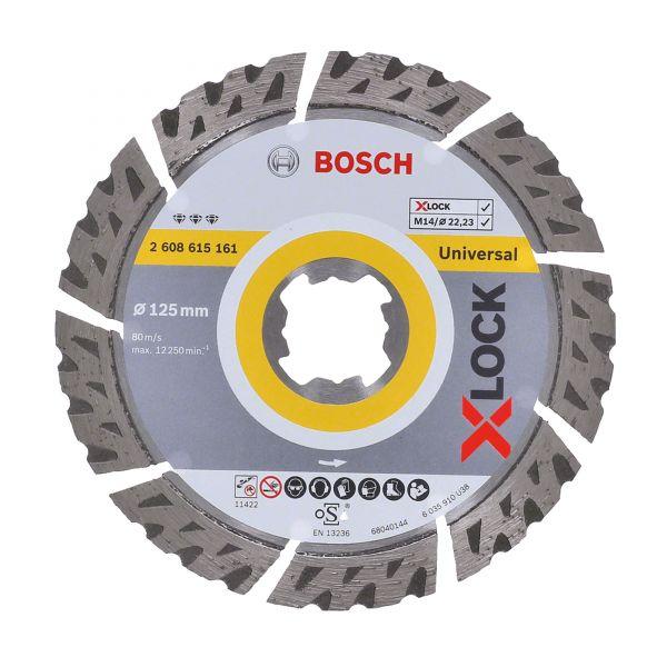 Bosch X-LOCK Diamanttrennscheiben Best for Universal 125 x 22,23 x 2,4 x 12